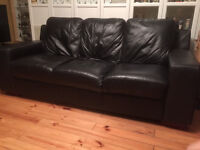 Black Leather 3 Seater Sofa looking to swap for similar in Brown