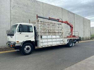 1998 Nissan UD PK220 Glass Truck With Crane -Rear Mount HMF 853 K2 Crane