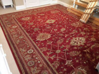 Large persian Royal Keshan rug in perfect condition. 12'x10' bought from John Lewis