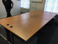 office furniture 1.5 meter straight single desks
