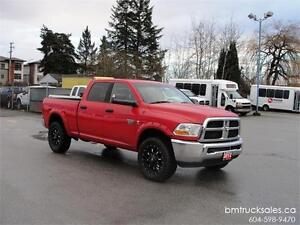 2012 DODGE RAM 2500 SLT SHORT BOX 4X4 LEATHER **CUMMINS DIESEL**