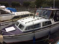 River Boat Cabin Cruiser Inboard Diesel