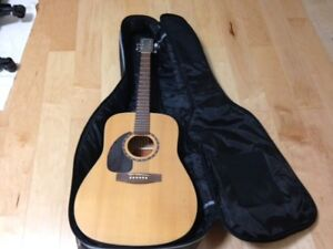 Slightly used left handed Norman Guitar