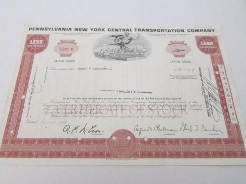 Vintage Railroad Stock Bond Certificate # 10 Expired