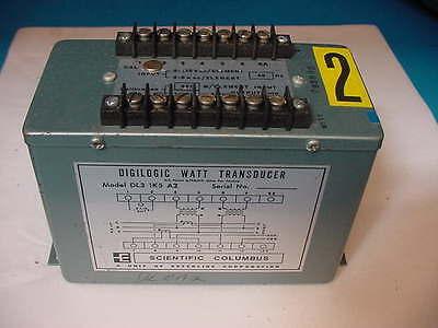 Scientific Columbus Dl31k5 A2 Digilogic Watt Transducer