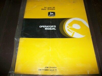 Original John Deere Dealer 3435 Rear Blade Tractor Operators Manualnew