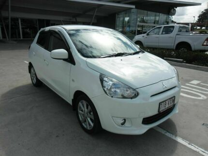 2014 Mitsubishi Mirage LA MY15 LS White 1 Speed Constant Variable Hatchback Yamanto Ipswich City Preview