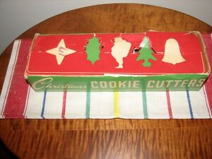 Vintage Aluminum Christmas Cookie Cutters in Original Box, Qty 5 Kitchener / Waterloo Kitchener Area image 6