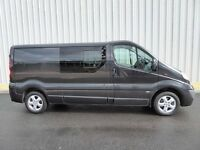 Vauxhall Vivaro 2.9T CDTI Sportive LWB, Black, Crew Bus Seat Rails and Privacy Glass Side Windows