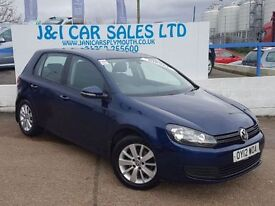 VOLKSWAGEN GOLF 1.6 MATCH TDI 5d 103 BHP A LOW PRICE 5DR FAMILY HA (blue) 2012