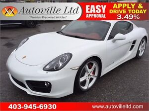 2014 PORSCHE CAYMAN S NAVIGATION 90 DAYS NO PAYMENT