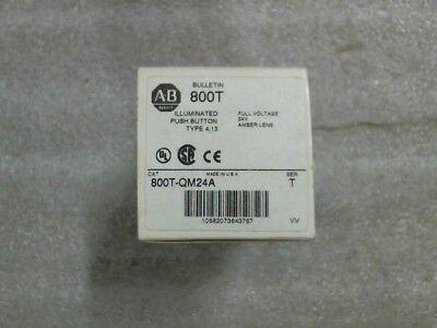 NIB Allen-Bradley 800T-QM24A Series T Amber Illuminated Pushbutton - 60 day wnty
