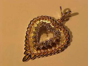 #3153-STUNNING 14K SOLID GOLD HEART WITH 1/3 CARAT OF DIAMONDS-Appraised $1550.00 sale $525.00 WILL SHIP IN CANADA ONLY