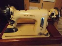 Minerva 122 electric sewing machine with foot pedal