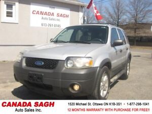 2006 Ford Escape 4WD,LTHR,ROOF,LOADED ,12M.WRTY+SAFETY $3990