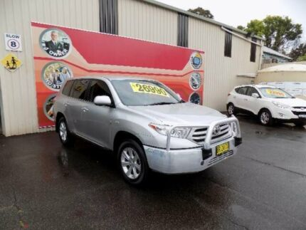 2012 Toyota Kluger GSU45R MY11 Upgrade KX-R (4x4) 7 Seat Silver 5 Speed Automatic Wagon West Gosford Gosford Area Preview