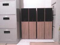 4 x 100W KEF Cresta Stereo Speakers - Heathrow