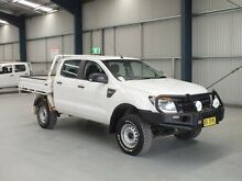 2012 Ford Ranger PX XL 3.2 (4x4) White 6 Speed Manual Dual Cab Chassis Dubbo 2830 Dubbo Area Preview