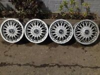"BBS 4x108, 14"", 6J DEEP DISH ALLOY WHEELS, original classic, not borbet, azev"
