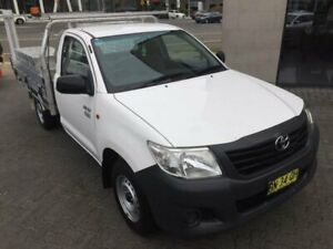 2012 Toyota Hilux TGN16R MY12 Workmate 5 Speed Manual Cab Chassis North Strathfield Canada Bay Area Preview