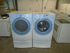 1001417 SET OF WHIRLPOOL DUET WASHER AND DRYER *** DUO  LAVEUSE / SECHEUSE WHIRLPOOL DUET
