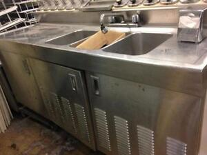 Refrigerated Table with Sink  and Ice Cream Topics Dispenser (done)