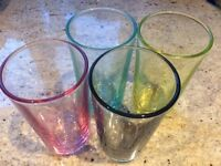 4 Coloured Glasses