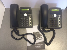 Snom VOIP Telephones x 2 - ideal for small business