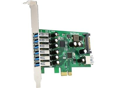 StarTech 7-port PCI Express USB 3.0 card - standard and low-profile design Model