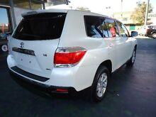 2012 Toyota Kluger GSU45R MY11 Upgrade KX-R (4x4) 5 Seat White 5 Speed Automatic Wagon Hamilton Newcastle Area Preview