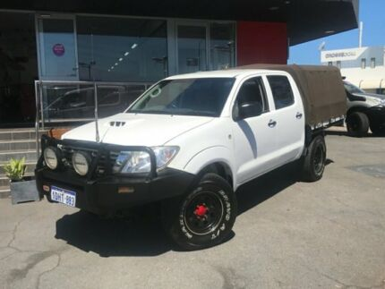 2010 Toyota Hilux 2010 TOYOTA HILUX SR (4x4) KUN26R 09 UPGRADE DUAL C/CHAS 3.0 White Manual Utility Como South Perth Area Preview