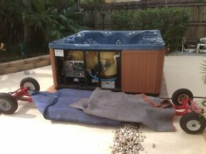 hot tub moving & disposal new or used call the pros