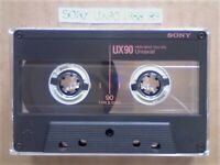 A2Z RARE SONY UX 90 MICROFINE UNIAXIAL CHROME GUARANTEED CASSETTE TAPES 1988-89 W/ CCL's & FREE P&P