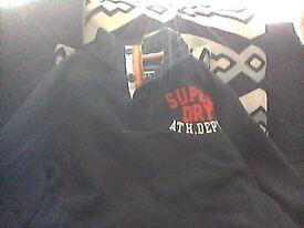 SUPERDRY JUMPER AND CROSSHATCH BLACK LABLE COAT, LIKE NEW... PICK UP BL2