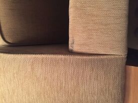 Great Quality Beige Boucle Fleck Weave Large 3 Seater Sofa Settee