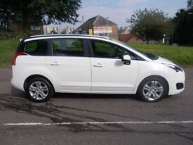 PEUGEOT 5008 1.6 HDI ACTIVE 5d AUTO 115 BHP (white) 2014