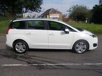 PEUGEOT 5008 1.6 HDI ACTIVE 5d AUTO 115 BHP (white) 2014