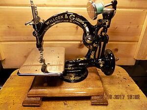 Antique Hand Crank Willcox Gibbs sewing machine. RESTORED 1878