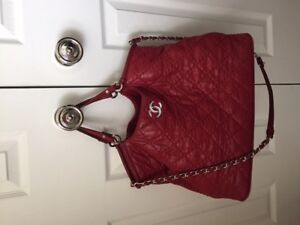 Chanel purse, red crossbody