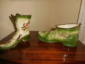 STAFFORDSHIRE WARE KLM BOOT AND SHOE PLANTER