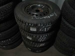 225/70 R16 DODGE JOURNEY WINTER TIRES AND RIMS PACKAGE (SET OF 4) - USED ARTIC CLAW TIRES APPROX. 85% TREAD