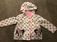 Disney Minnie Mouse Age 2-3 Hooded coat