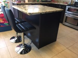 Maple Kitchen Island with Granite