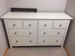 Hemnes 8 Drawer Dresser (White)