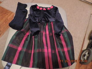 Girl's Size 2T Party Dresses & Tights