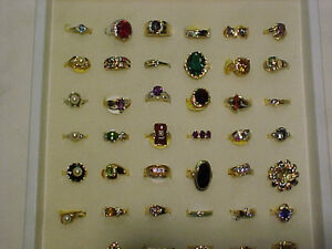 UNDER $200.00---*150* GOLD RINGS/DIAMONDS/SEMI PRECIOUS-