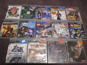 PS3 Games - New in sealed boxes (some in store-opened boxes)