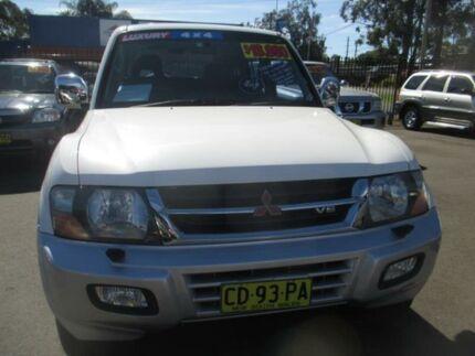 2001 Mitsubishi Pajero NM Exceed LWB (4x4) White 5 Speed Auto Sports Mode Wagon Tuggerah Wyong Area Preview