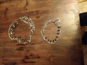 small and large prong collars