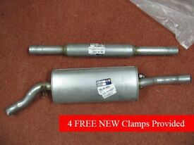 NEW! - VW Mk 2 Golf - Exhaust System (Rear & Centre) with Clamps ~ OFFERS WELCOMED